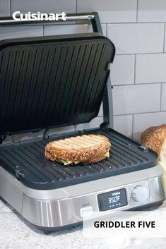 #NationalPaniniDay might only last one day, but you can enjoy #sizzlingpaninis as often as you want with our Griddler FIVE. This user-friendly #kitchenmusthave features 5 cooking options - cook up a burger one night, and then throw a panini together for lunch the next day, it's that easy. #cuisinart #savorthegoodlife #sandwichideas #indoorgrilling #lunchideas #paninirecipes Griddle Recipes, Panini Recipes, Indoor Grill, Kitchen Must Haves, Fluffy Pancakes, Grilling, Lunch, Cook, Canning