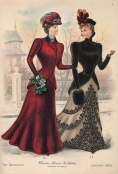 Winter Street Toilettes, The Delineator, January 1899