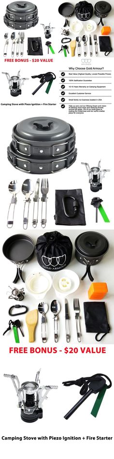 Camping Cookware 87141: 17Pcs Camping Cookware Mess Kit Backpacking Gear And Hiking Outdoors Bug Out Bag -> BUY IT NOW ONLY: $31.35 on eBay!