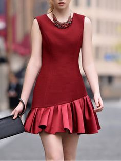 Casual Formal Dresses, Cute Casual Outfits, Simple Dresses, Elegant Dresses, Beautiful Dresses, Red Homecoming Dresses, Dress Outfits, Fashion Outfits, Sleeves Designs For Dresses