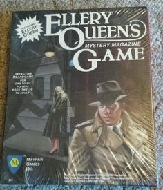 Ellery Queen's Mystery Magazine Board Game Vintage NIB 1986 Detective w/ Books in Toys & Hobbies, Games, Board & Traditional Games | eBay