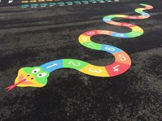 Playground painting ideas - Aluno On Playground Painting, Playground Games, Playground Flooring, Playground Design, Preschool Playground, Preschool Classroom, Outdoor Learning, Outdoor Games, Outdoor Play