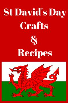 St David's Day Crafts and Recipes St Dwynwens Day, Saint David's Day, Learn Welsh, Beaver Scouts, Whale Crafts, Welsh Language, Celebration Day, Autumn Crafts, Cymru