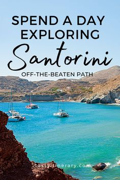 Get away from the crowds. Rent a car and hit these spots off the beaten path in Santorini Greece. See what else this incredible island has to offer. #thingstodoingreece #santorinibeach #santorinifood #santorinitravel #greecetravel #greekislands Dream Vacation Spots, Vacation Places, Vacation Trips, Dream Vacations, Places To Travel, Travel Destinations, Vacation Resorts, Santorini Beaches, Santorini Travel