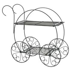 CobraCo™ 2 Tier Garden Cart Plant Stand make into cinderella carriage!!