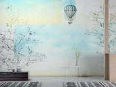 Tappezzeria romantica per camera da letto - Carta da parati lavabile in vinile Fogg di Glamora.