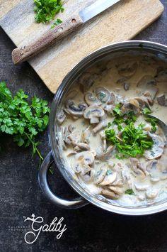 Polish Recipes, Polish Food, Portobello, Hummus, Risotto, Food And Drink, Menu, Chicken, Dinner