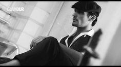 David Gandy - screencap BTS video Glamour Magazine