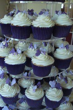 Purple cupcake papers