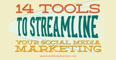 14 social media tools to streamline content marketing Internet Marketing, Online Marketing, Social Media Marketing, Digital Marketing, Content Marketing, Marketing Communications, Marketing Guru, Le Social, Social Media Engagement
