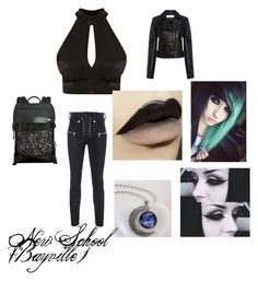 """""""New School Bayville"""" by angelinamartinez-i on Polyvore featuring art"""