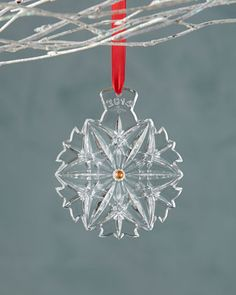 #horchowholiday14 2014 Snowflake Wishes Christmas Ornament by Waterford at Horchow.