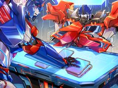 """dataglitch: """" Commission for optronixes, who wanted TFP Ultra Magnus and Optimus going over datapads:) I'm super late but I really hope you like it; Optimus Prime Transformers, Transformers Decepticons, Transformers Characters, Cartoon Characters, Gi Joe, Ultra Magnus, You Draw, Cultura Pop, Just In Case"""