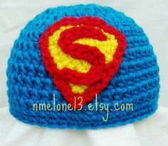Handmade SuperMan crochet hat 0 to 10 years old off Black Friday & Ciber Monday knitted warm cotton Crochet For Boys, Crochet Baby Hats, Crochet Beanie, Knit Or Crochet, Crochet Crafts, Crochet Projects, Superman Crochet, Crochet Character Hats, Etsy
