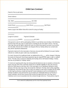 Daycare contract family daycare contract after reading the daycare child care contract template hashdoc maxwellsz