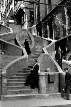 Camondo Stairs, Istanbul, Turkey, 1964 by Henri Cartier-Bresson