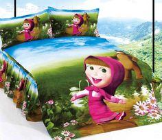 Pretty Martha Girl Cotton Cartoon Kids Bedding Sets  Kids Bedding Sets Bedroom Bed, Bedroom Decor, Kids Bedding Sets, Cartoon Kids, Disney Princess, Pretty, Bed Sets, Cotton, 3d
