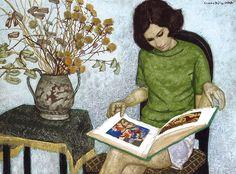 Béla Czene (Hungarian, 1911-1999) - Leitura (1970)