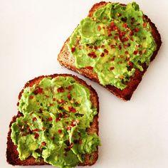 Beautiful avocado toast on Ezekiel Bread!