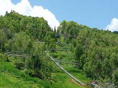 Alpine Coaster....Park City Resort Alpine Coaster, City Resort, Park City Utah, Railroad Tracks, Exploring, Adventure, Explore, Adventure Movies, Research