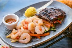 Shrimp + Steak = Delicious