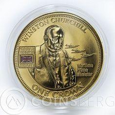 United Kingdom 1 crown 5 coins Set Great British Heroes Gilded nickel 2010