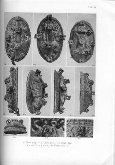 Holger Arbman - Birka I tortoise brooches, grave 464, 552, 550