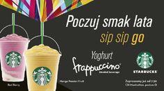 Lato już zawitało w Starbucksie :) Poczuj jego smak zamawiając pyszne frappe!
