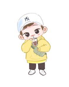 Chen <credits to owner> Exo Cartoon, Cartoon Fan, Cartoon Pics, Exo Chen, Exo Xiumin, Exo Stickers, Exo Anime, Exo Lockscreen, Exo Fan Art