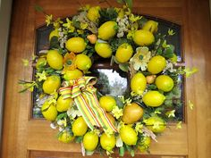 Lemon Wreath The Robin and Sparrow