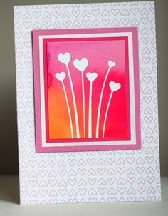 Neutral card, Impression obsession heart stems die, Asjechris, 2016