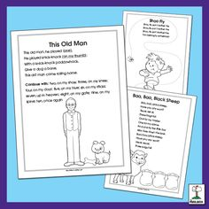 I love these coloring sheets for classic songs! They're great for print concepts, such as tracking from left to right and top to bottom. English Language, Language Arts, Coloring Sheets, Coloring Pages, Shoo Fly, Classic Songs, Learning, My Love, Fun