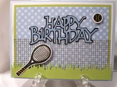 Creations by Patti: Tennis B'day Card