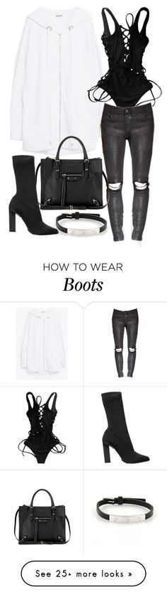 """""""Untitled #20146"""" by florencia95 on Polyvore featuring Balenciaga, Cartier and Calvin Klein Collection"""
