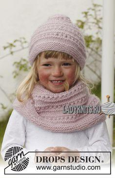 вязаная спицами шапка и снуд для девочки Knitted Hats Kids, Baby Hats Knitting, Baby Knitting Patterns, Knitting For Kids, Knitted Shawls, Free Knitting, Kids Hats, Alpacas, Knit Cowl