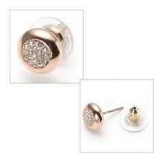 Swarovski STONE Pierced Earrings Studs Gold 5069729 – Zhannel