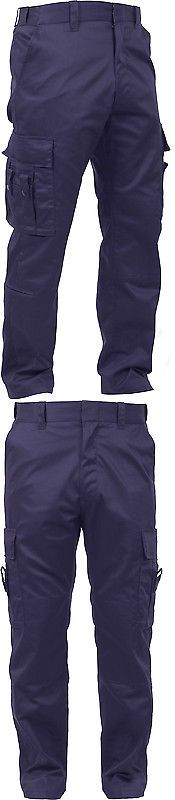 Pants and Shorts 163525: Navy Blue Emt Deluxe 16 Pocket First Responder Reinforced Ems Paramedic Pants -> BUY IT NOW ONLY: $45.99 on eBay!