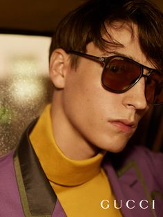a94ec20caa Aviator sunglasses from the new Gucci Eyewear collection by Alessandro  Michele. Ray Ban Round Sunglasses