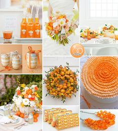 Orange Wedding Inspiration . . . with a free printable DIY menu - perfect for summer