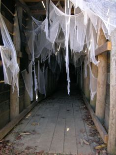 Spider tunnel in the Harvest Haunt at http://libertyridgefarmny.com/ Upstate NY Need help making your haunt even scarier? Contact us....727-608-6868