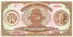 CzechoslovakiaP18s-500Korun-1923-donatedvl_f Vintage World Maps, European Countries, Money, Retro, Czech Republic, Graphic Design, Historia, Nostalgia, Silver