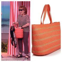 The View: May 2016 Joy's Striped Raffia Tote Bag