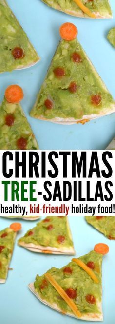 Looking for a fun way to add some Christmas cheer to your kids' favorite meal? Turn quesadillas into festive Christmas trees in a fun and easy twist on a classic with Christmas tree-sadillas! #funfood #kidfriendlyfood #kidfriendly #easyholidayeats #easychristmasideas #christmasfood #christmasdinner #christmaslunch #healthychristmasfood #healthykidsfood