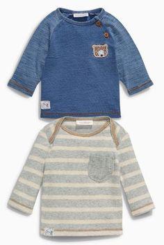 Kaufen Sie Inidigoblaue und graue T-Shirts, Zweierpack (0–18 Monate) heute online bei Next: Deutschland