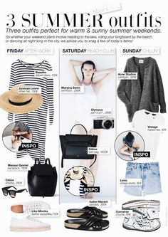 3 OUTFITS FOR SUMMER WEEKENDS