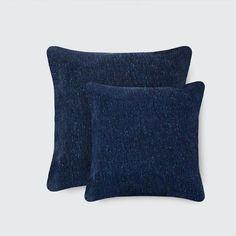 Dark Blue Tweed Pillows