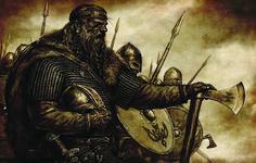 A Viking Warrior Preparing for Battle at Dawn Viking Knotwork, Odin Symbol, Red Raven, Viking Designs, Viking Warrior, Big Design, Grey Pattern, Vikings, Dawn