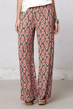 Pummelo Ikat Wide-Legs; I am excited to an unhealthy degree that palazzo pants are coming back.