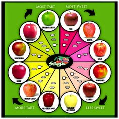 Different Apple Flavors and Types #infographic #Apples