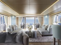 Main Salon Eddie Jordans Sunseeker 155 Yacht